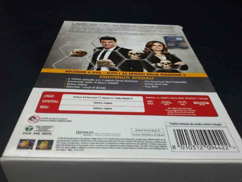 FILM BONES STAGIONE 5 COMPLETA   Mercatino dell'Usato Moncalieri bengasi 2