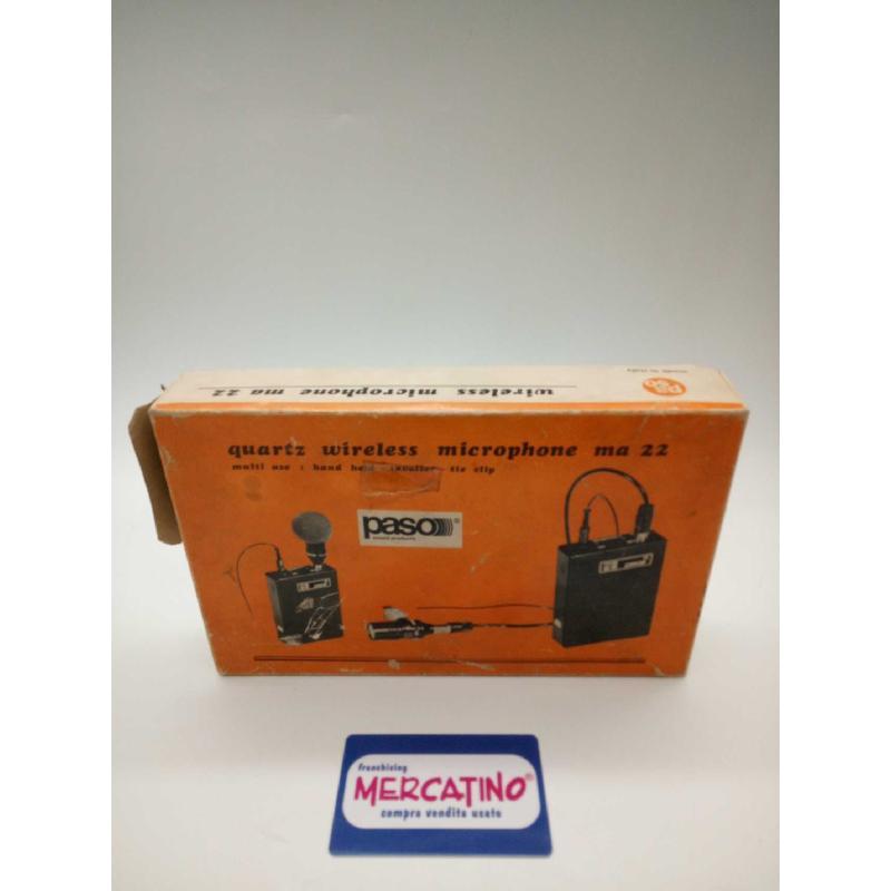 MICROFONO WIRILESS VINTAGE PASO MA22 | Mercatino dell'Usato Moncalieri bengasi 1