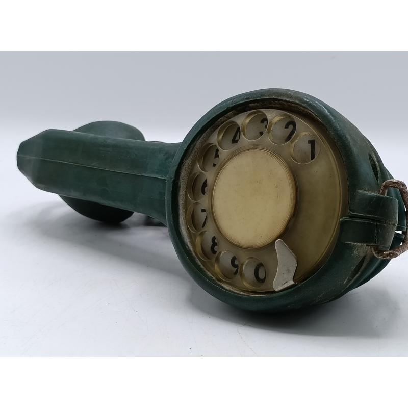 TELEFONO TESTER TELEFONICO FAVA VINTAGE COLOR VERDE GOMMATO   Mercatino dell'Usato Moncalieri bengasi 1