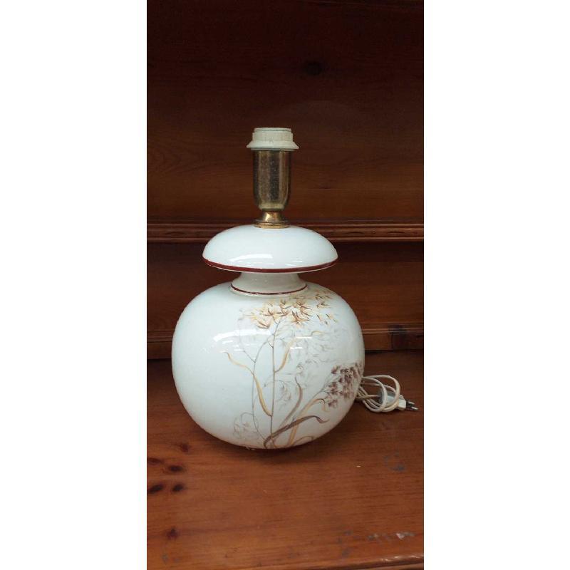 BASE LAMPADA CERAMICA FIORI SPIGHE  | Mercatino dell'Usato Moncalieri bengasi 1
