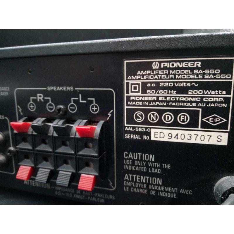 AMPLIFICATORE INTEGRATO SPIONEER SA-550 | Mercatino dell'Usato Moncalieri bengasi 4