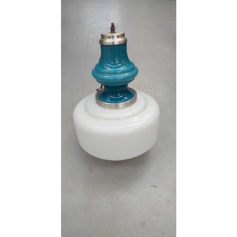 LAMPADARIO VINTAGE BIANCO/BLEU | Mercatino dell'Usato Moncalieri bengasi 1