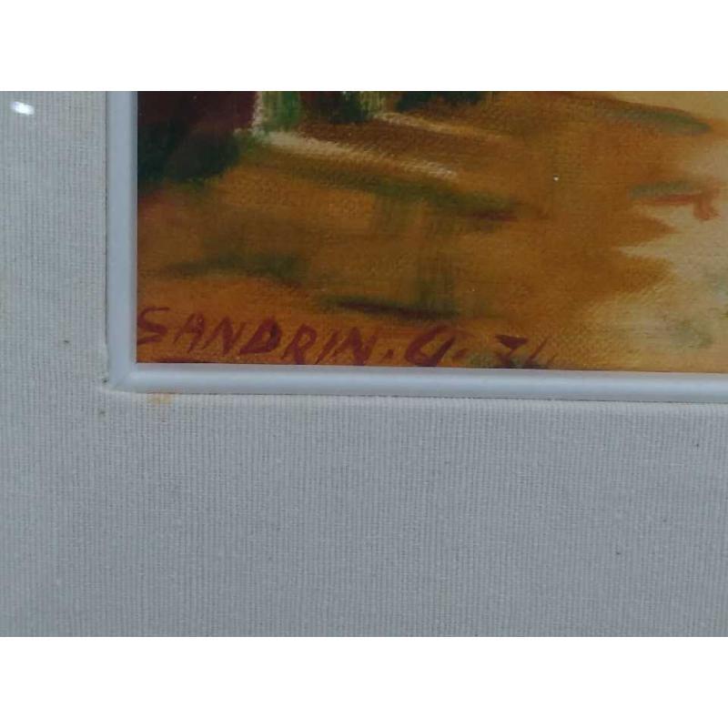 QUADRO OLIO TELA SANDRIN G POLLAIO VUOTO 25X30 | Mercatino dell'Usato Moncalieri bengasi 3