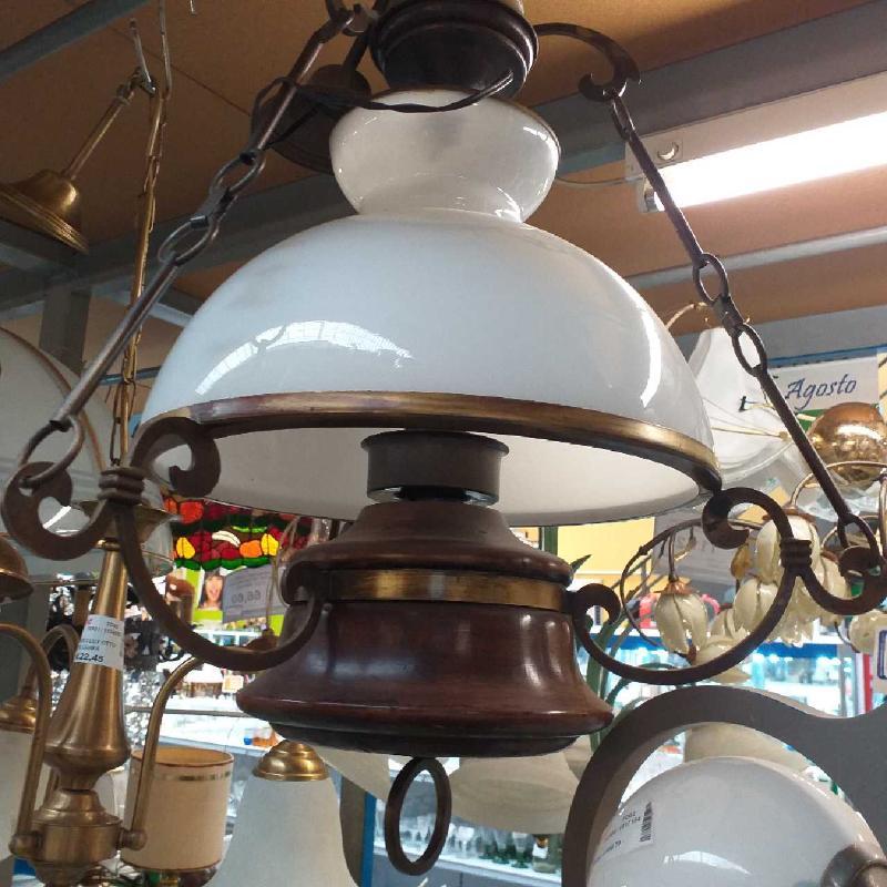LAMPADARIO CAMPANA VETRO OTTONE | Mercatino dell'Usato Moncalieri bengasi 2