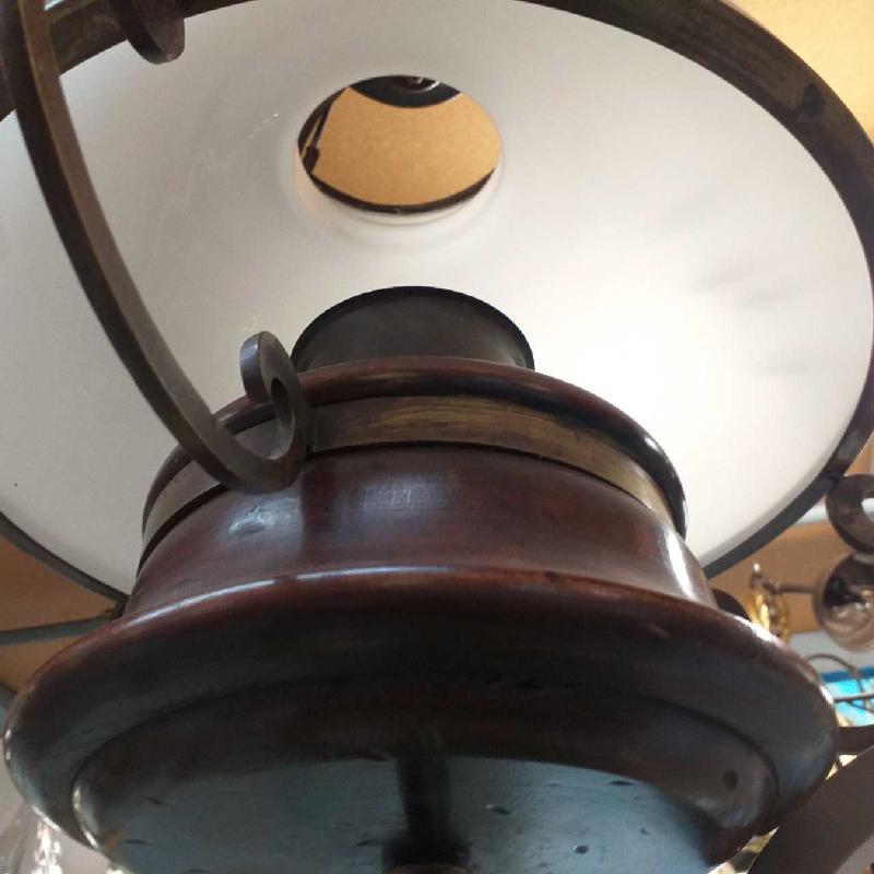 LAMPADARIO CAMPANA VETRO OTTONE | Mercatino dell'Usato Moncalieri bengasi 3