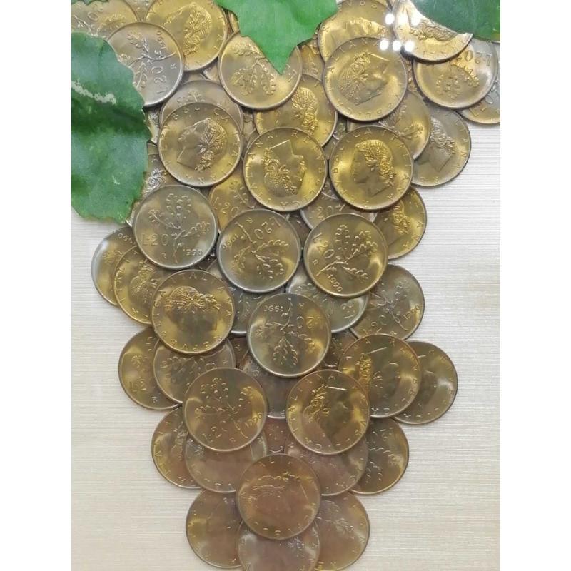 QUADRETTO UVA COMPOSTA DA MONETINE VECCHIE  | Mercatino dell'Usato Moncalieri bengasi 2