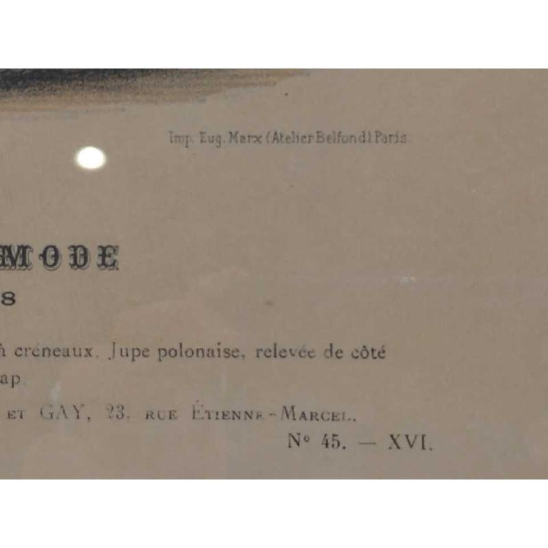 STAMPA VECCHIA L'ART ET LA MODE VESTITO BLU    Mercatino dell'Usato Moncalieri bengasi 4