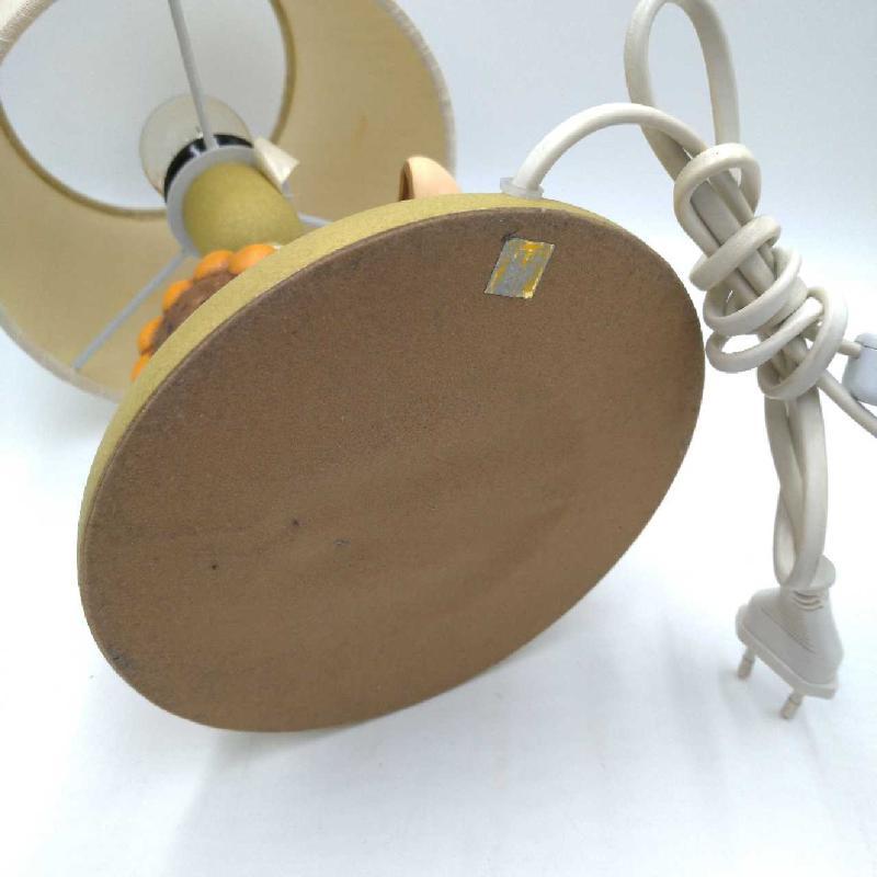 LAMPADA DA TAVOLO BASE CERAMICA THUN CONIGLIETTO E GIRASOLE  | Mercatino dell'Usato Moncalieri bengasi 4