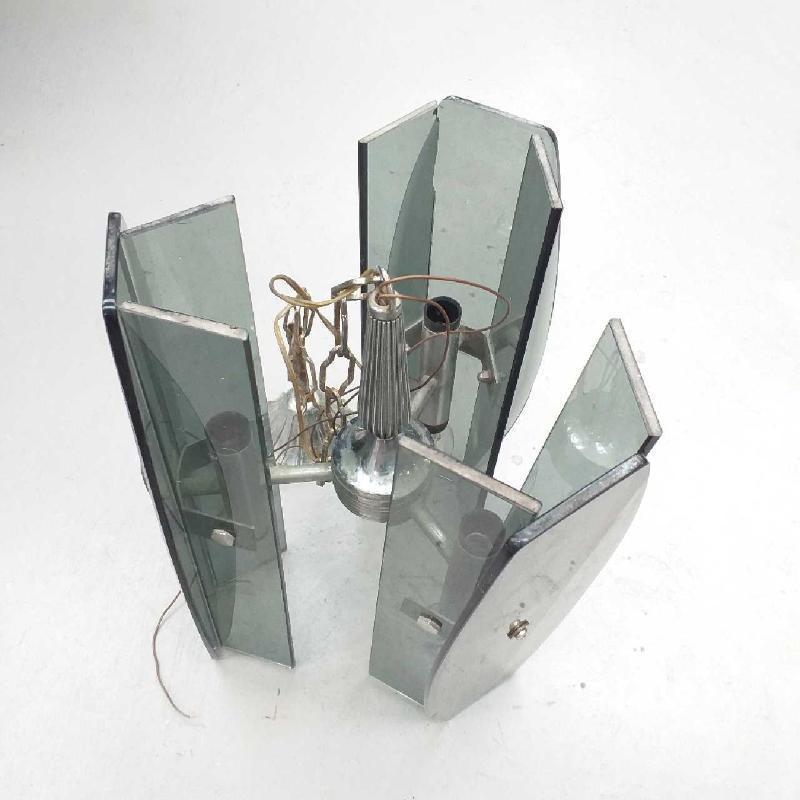 LAMPADARIO ANNI 70 FUME 3 LUX | Mercatino dell'Usato Moncalieri bengasi 1