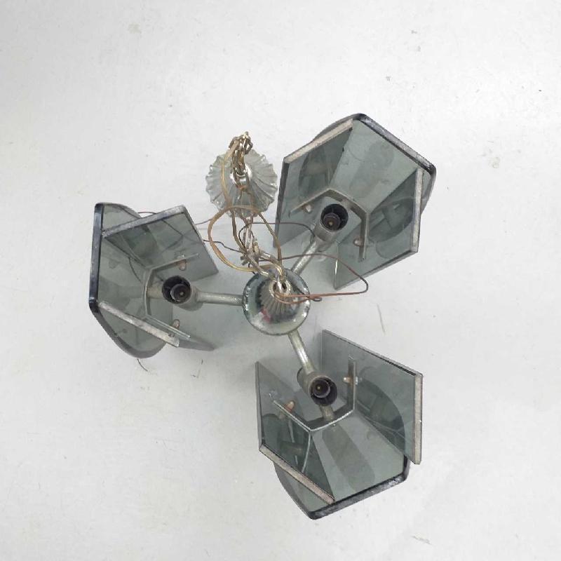 LAMPADARIO ANNI 70 FUME 3 LUX | Mercatino dell'Usato Moncalieri bengasi 2