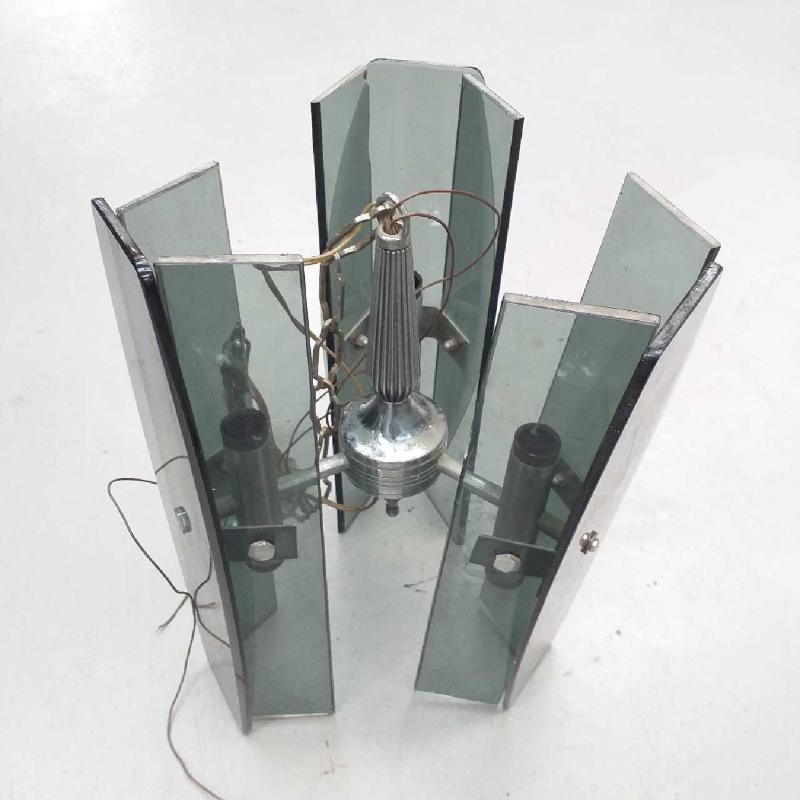 LAMPADARIO ANNI 70 FUME 3 LUX | Mercatino dell'Usato Moncalieri bengasi 3