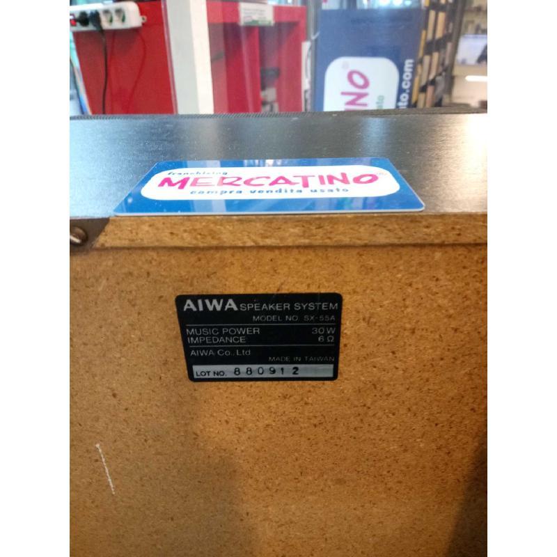 CASSE ACUSTICHE AIWA SX55A FUNZIONANTI | Mercatino dell'Usato Moncalieri bengasi 2