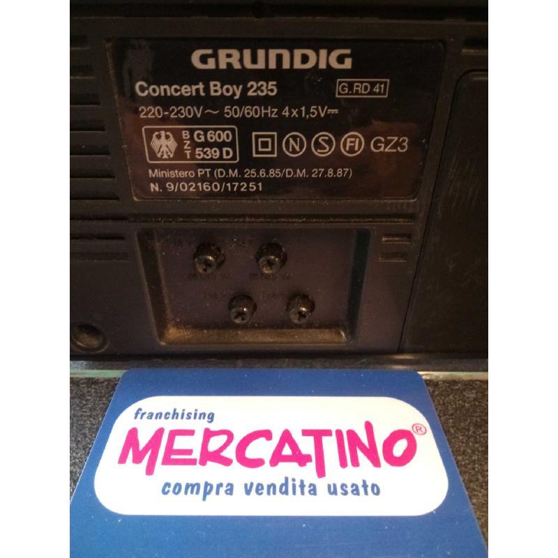 RADIO GRUNDIG CONCERT BOY 235 FUNZIONANTE | Mercatino dell'Usato Moncalieri bengasi 3