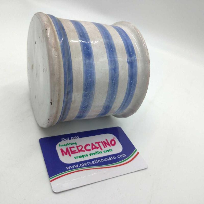 VASETTO RIGATO CERAMICA TERRAGLIA | Mercatino dell'Usato Moncalieri bengasi 3