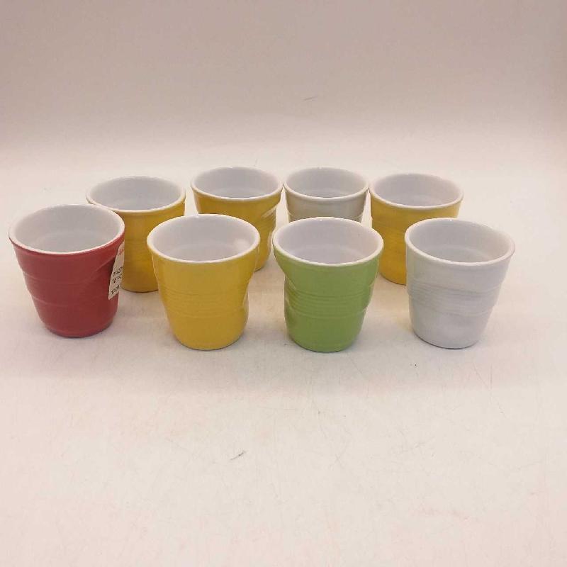 TAZZINE CAFFE' COLORATE PZ.8 BICCHIERE SIMIL | Mercatino dell'Usato Moncalieri bengasi 1