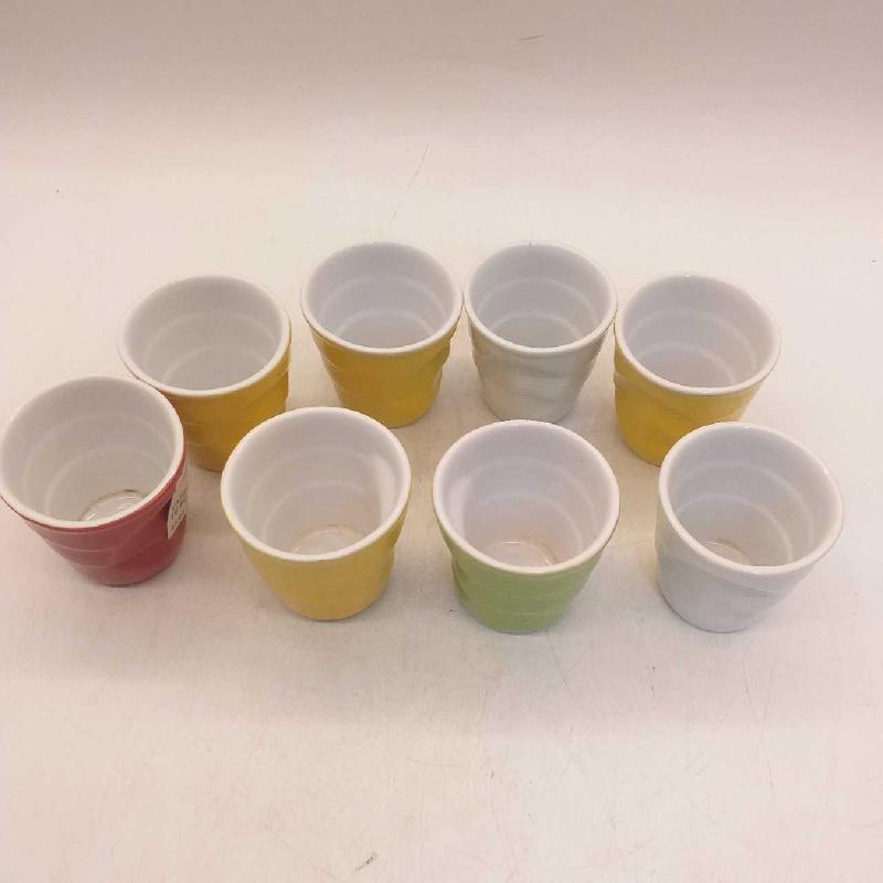 TAZZINE CAFFE' COLORATE PZ.8 BICCHIERE SIMIL | Mercatino dell'Usato Moncalieri bengasi 2
