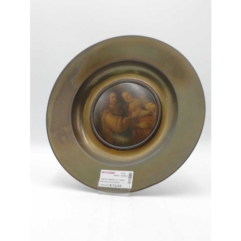 PIATTO METALLO C/INTERNO PLACCA SIGNORE PALPEGGIATORE    Mercatino dell'Usato Moncalieri bengasi 1
