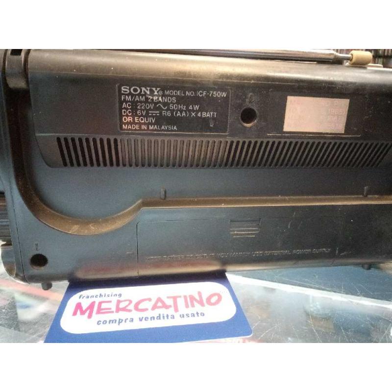 RADIO SONY ICF 750W FUNZIONANTE | Mercatino dell'Usato Moncalieri bengasi 4