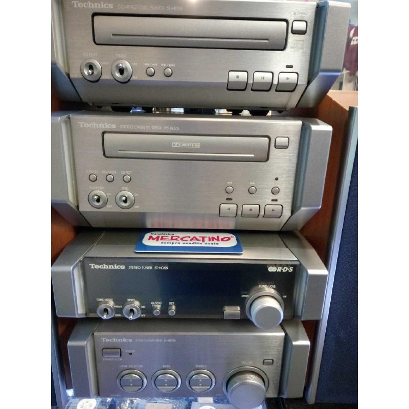 SISTEMA HIFI CD CASSETTE TECHNICS SEHD55 FUNZIONANTE   Mercatino dell'Usato Moncalieri bengasi 2