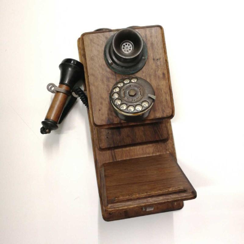 TELEFONO 20X45X16 LEGNO SCURO  | Mercatino dell'Usato Frossasco 1