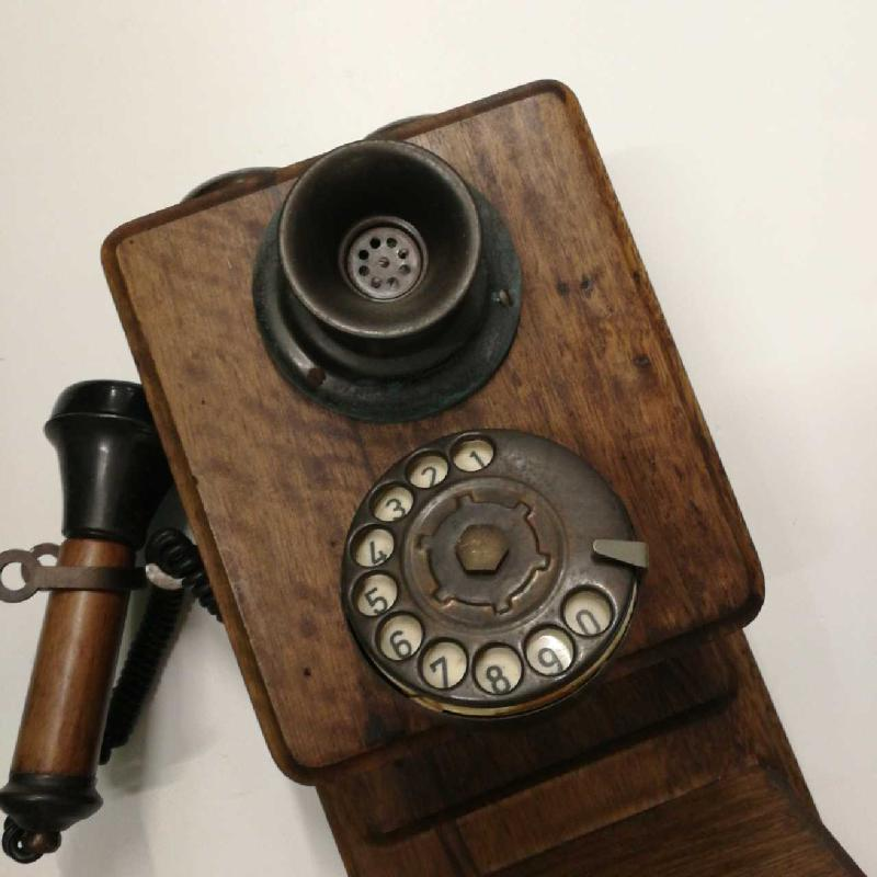 TELEFONO 20X45X16 LEGNO SCURO  | Mercatino dell'Usato Frossasco 3