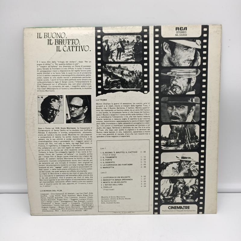 LP ENNIO MORRICONE - IL BUONO, IL BRUTTO, IL CATTIVO (COLONNA SONORA ORIGINALE DEL FILM)   Mercatino dell'Usato Torino via gorizia 2