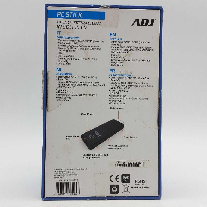 PC STICK ADJ INTEL | Mercatino dell'Usato Torino c.so traiano 2