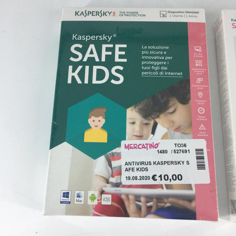 ANTIVIRUS KASPERSKY SAFE KIDS   Mercatino dell'Usato Carmagnola 1
