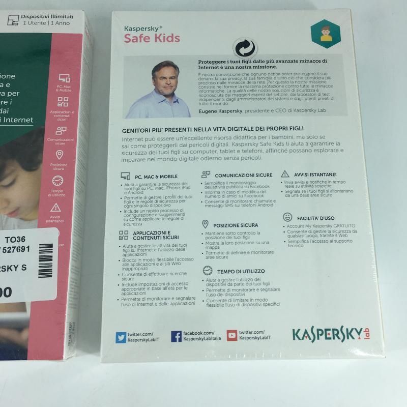 ANTIVIRUS KASPERSKY SAFE KIDS   Mercatino dell'Usato Carmagnola 2