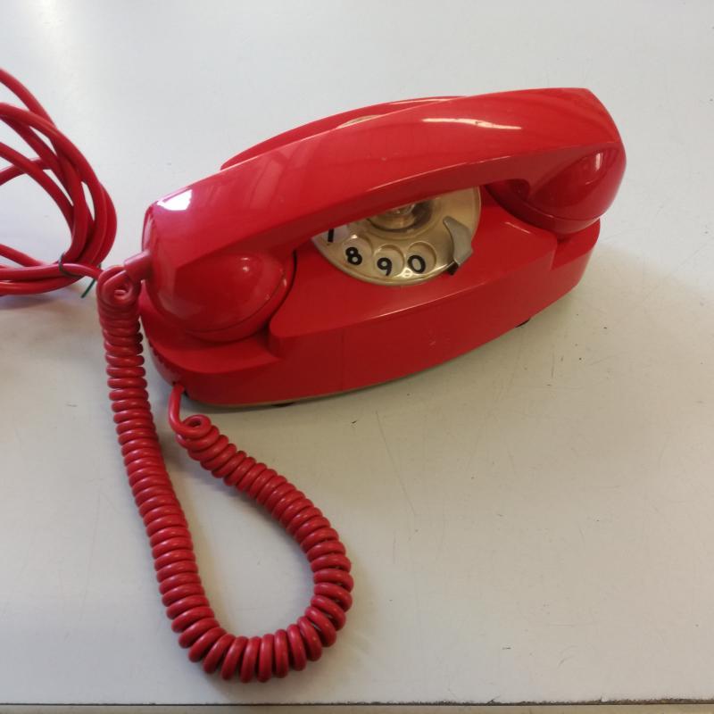 TELEFONO A DISCO S.I.P. FACE STANDARD ROSSO | Mercatino dell'Usato Carmagnola 1