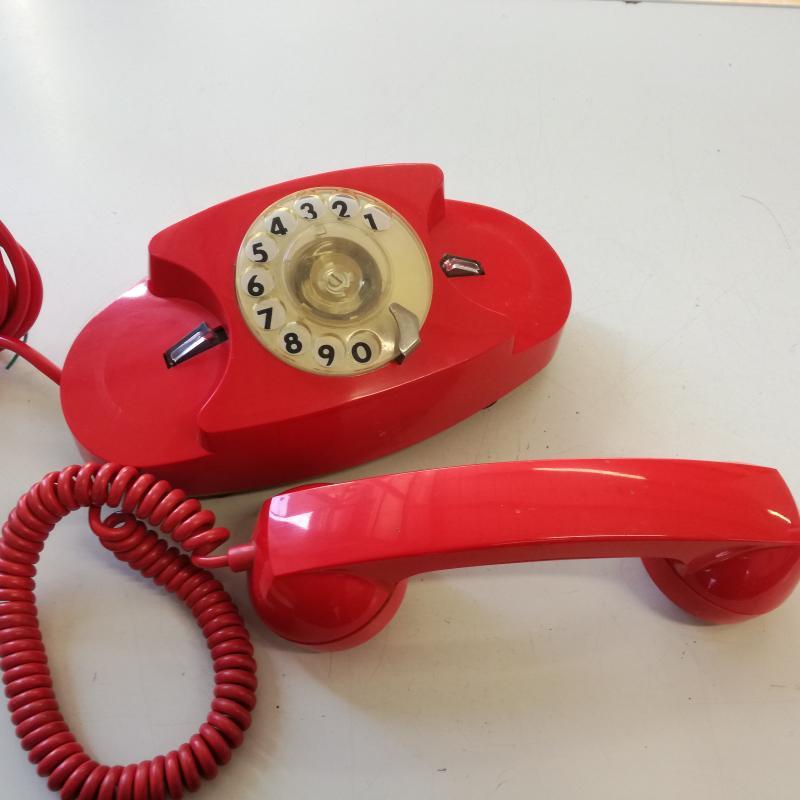 TELEFONO A DISCO S.I.P. FACE STANDARD ROSSO   Mercatino dell'Usato Carmagnola 2
