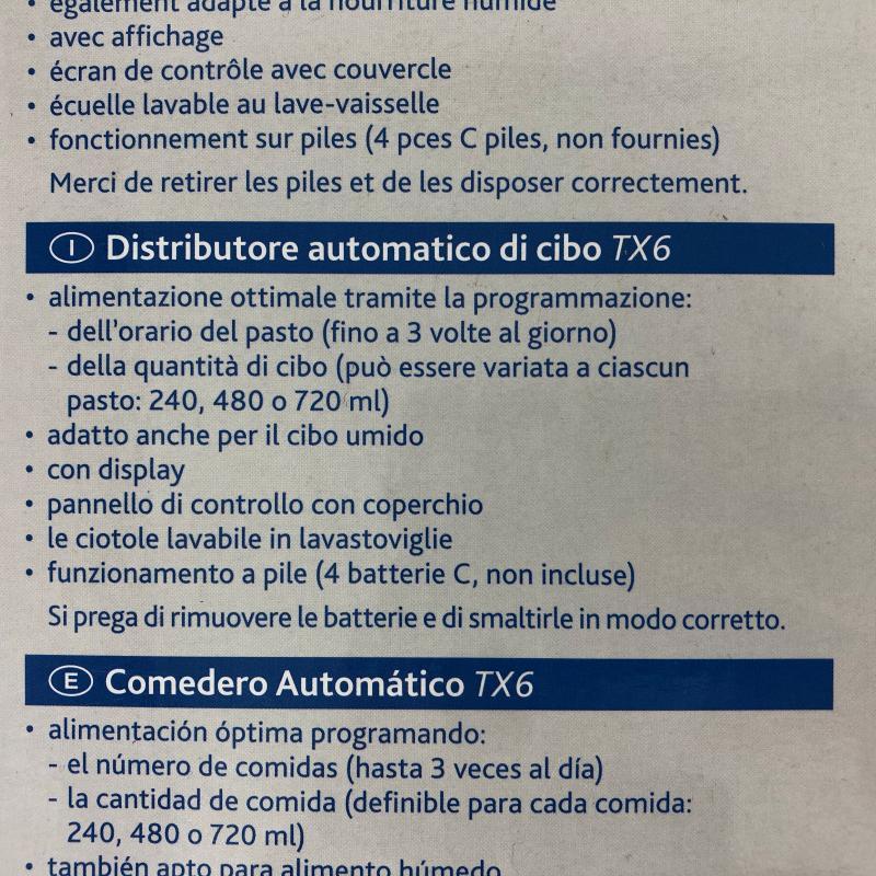 DISTRIBUTORE CROCCHETTE AUTOMATICO TRIXIE TX6 | Mercatino dell'Usato Carmagnola 2
