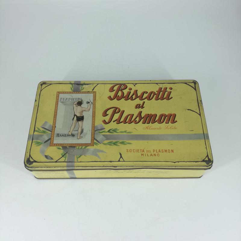 SCATOLA LATTA BISCOTTI DI PLASMON   Mercatino dell'Usato Carmagnola 2