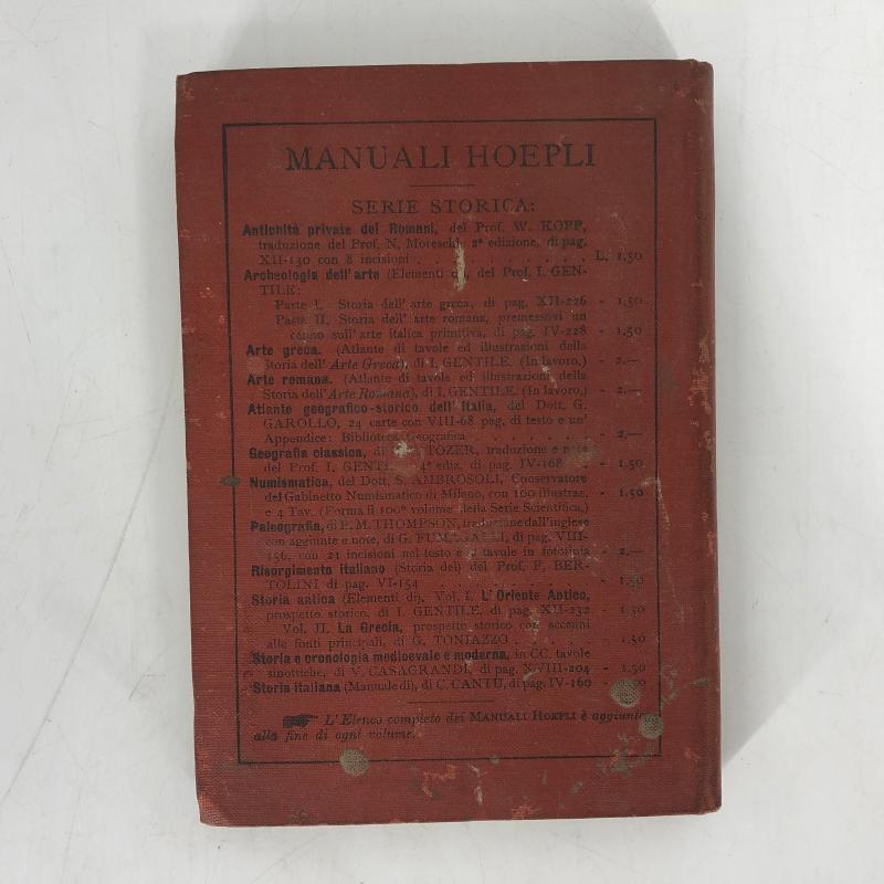 MANUALE HOEPLI STORIA ANTICA LA GRECIA | Mercatino dell'Usato Carmagnola 3