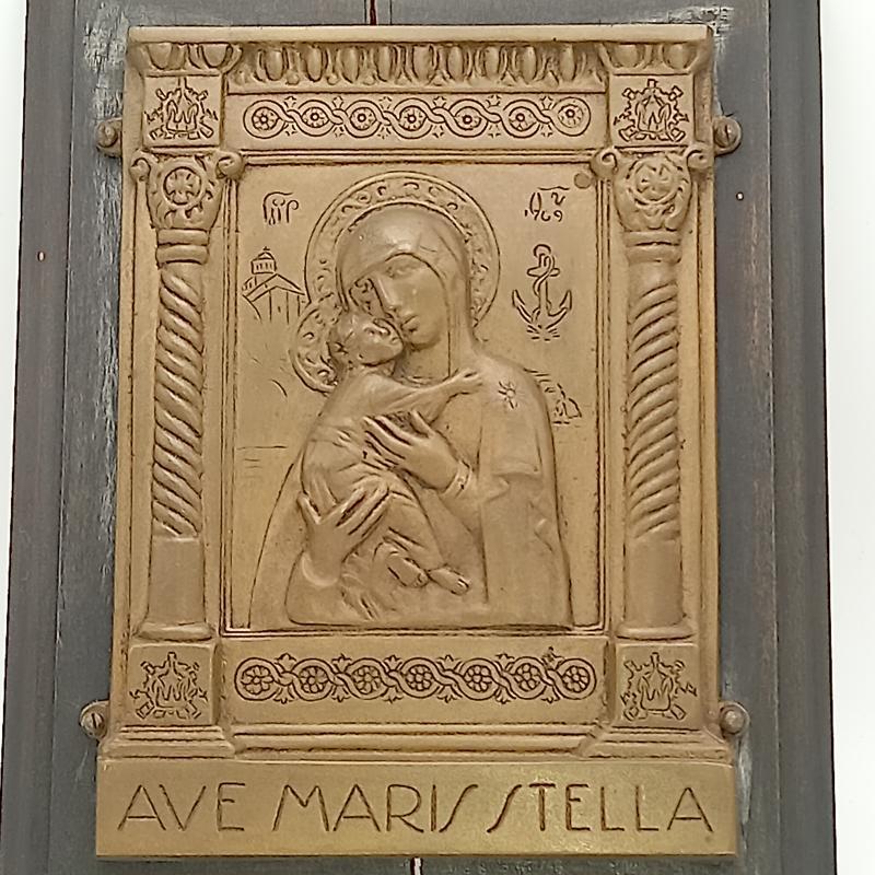 QUADRETTO VECCHIO  AVE MARIS STELLA   Mercatino dell'Usato Settimo torinese 3