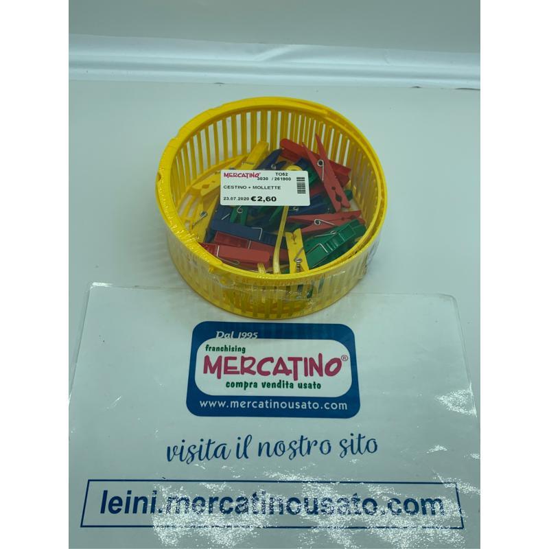 CESTINO + MOLLETTE  | Mercatino dell'Usato Leini' 1