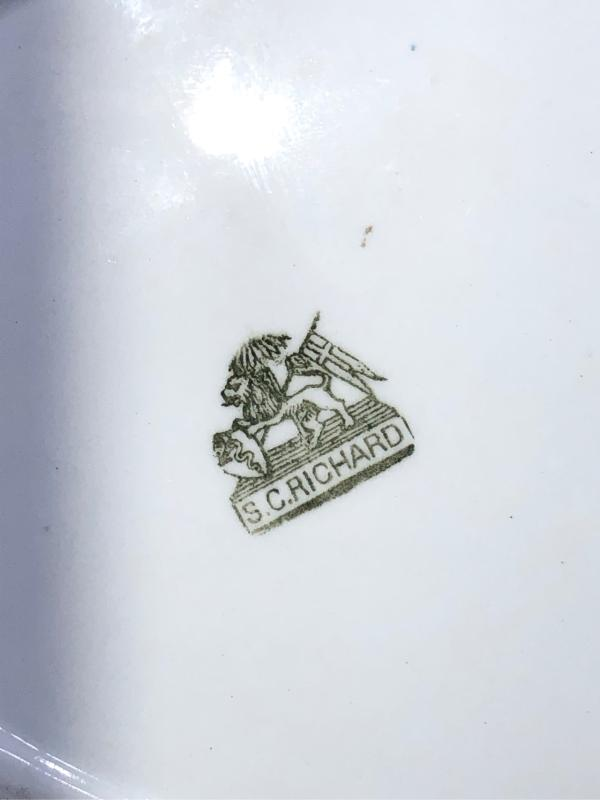 PIATTO PORTATA RICHARD GINORI NUMERATO DEL 1920   Mercatino dell'Usato Leini' 4