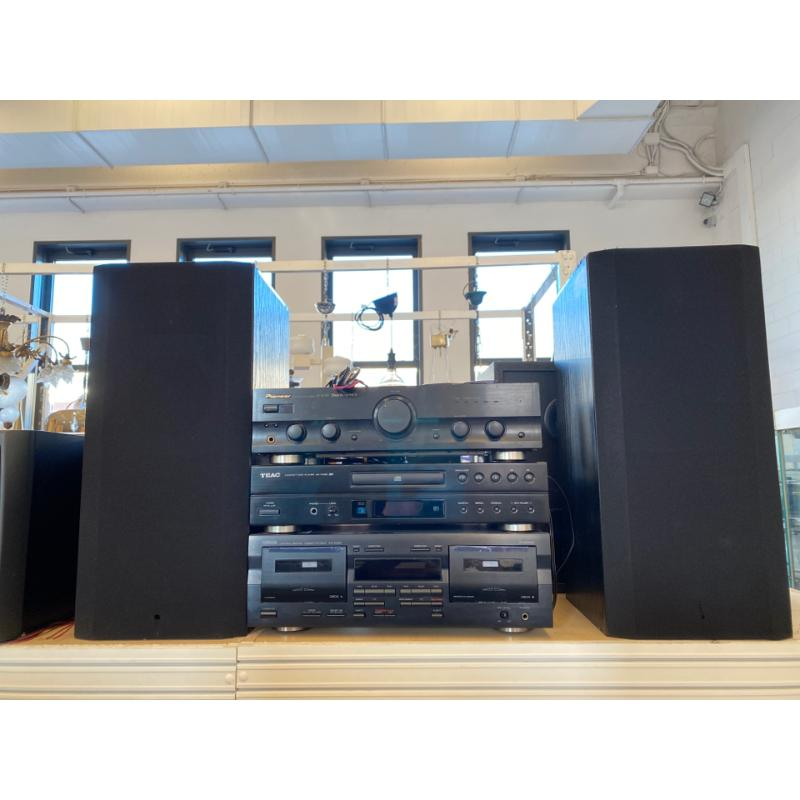 IMPIANTO AUDIO PIONEER/YAMAHA/TEAC +2 CASSE  | Mercatino dell'Usato Osasco 1