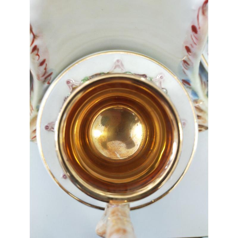 SERVIZIO CAFFE CAPODIMONTE  PLACCATO ORO PZ.8 | Mercatino dell'Usato Osasco 4