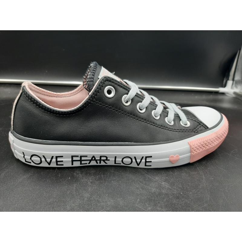 SCARPE DONNA CONVERSE NERE ROSA LACCI GRIGI LOVE FEAR LOVE  | Mercatino dell'Usato Osasco 1