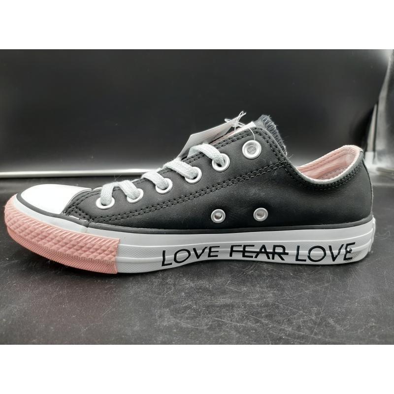 SCARPE DONNA CONVERSE NERE ROSA LACCI GRIGI LOVE FEAR LOVE  | Mercatino dell'Usato Osasco 3