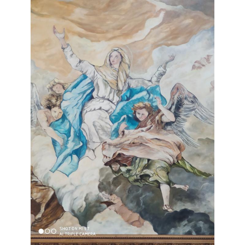 QUADRO DIPINTO MARIA CON ANGELI  | Mercatino dell'Usato Osasco 2