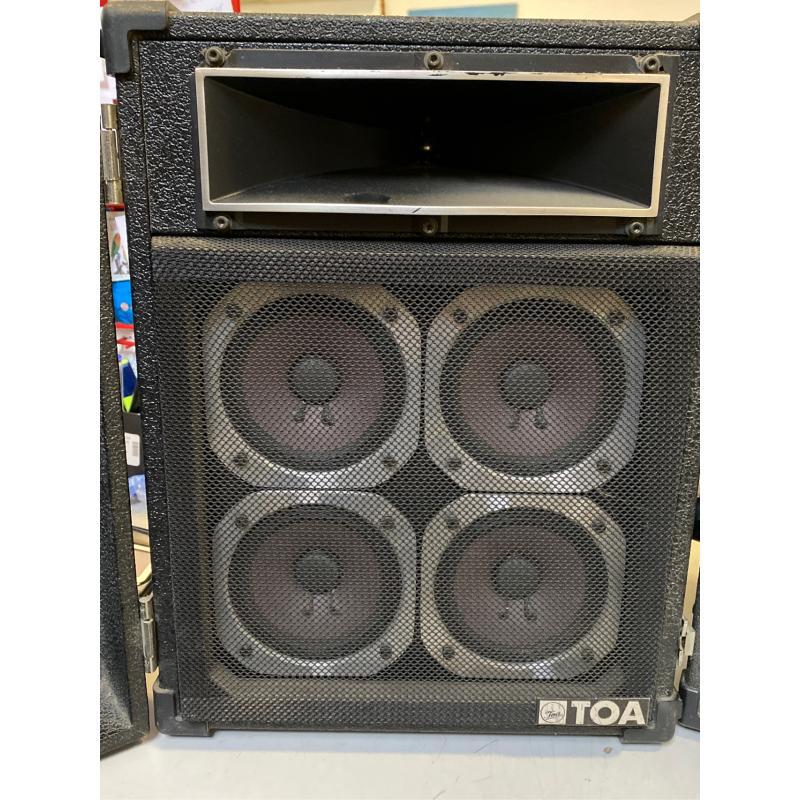 TOA POWERED MIXER MODEL MX-106R CON CASSE TOA RS 20 400W+400W | Mercatino dell'Usato Osasco 3