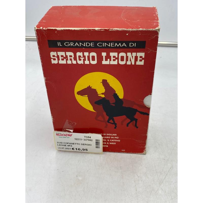 DVD COFANETTO SERGIO LEONE 4PZ | Mercatino dell'Usato Osasco 1