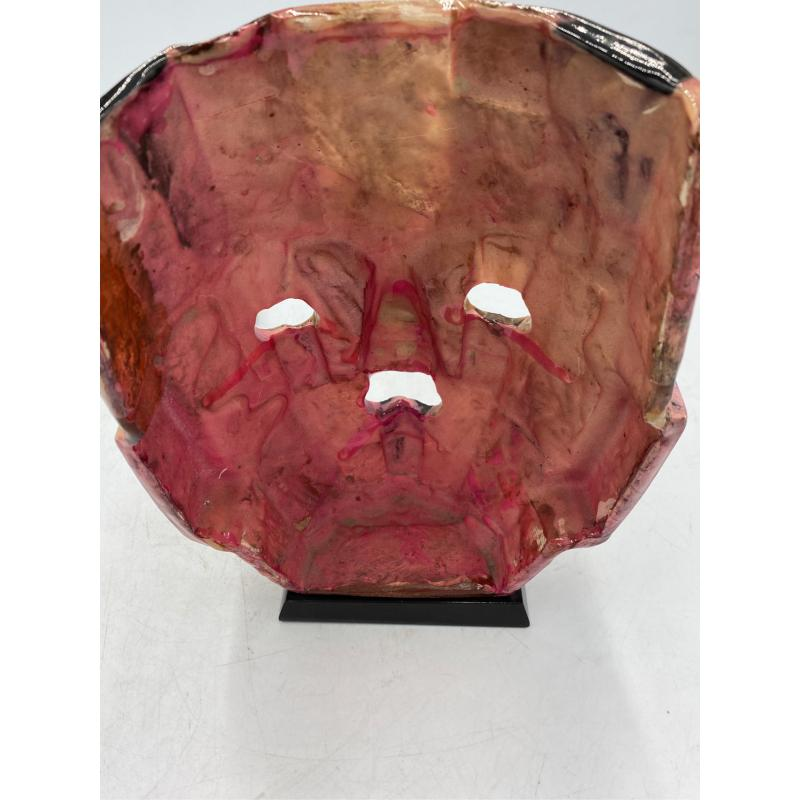 MASCHERA AZTECA NERA ROSA MOSAICO  | Mercatino dell'Usato Osasco 2