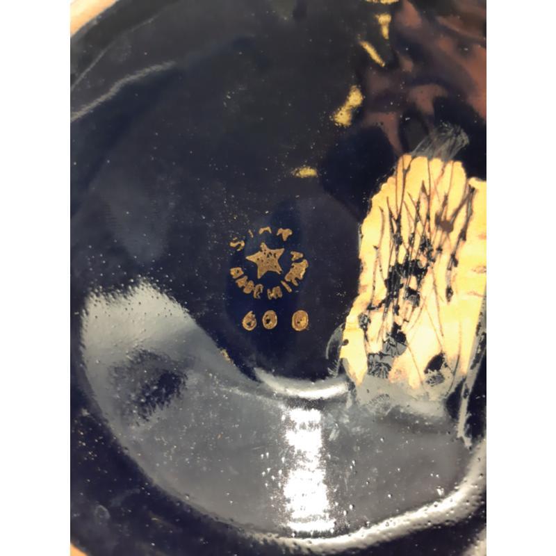 VASO BLU DORATO SIAR MADE IN ITALY | Mercatino dell'Usato Osasco 2