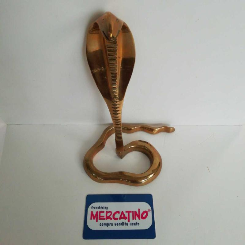 PORTA CARTE SERPENTE OTTONE CM 23   Mercatino dell'Usato Torino san paolo 1