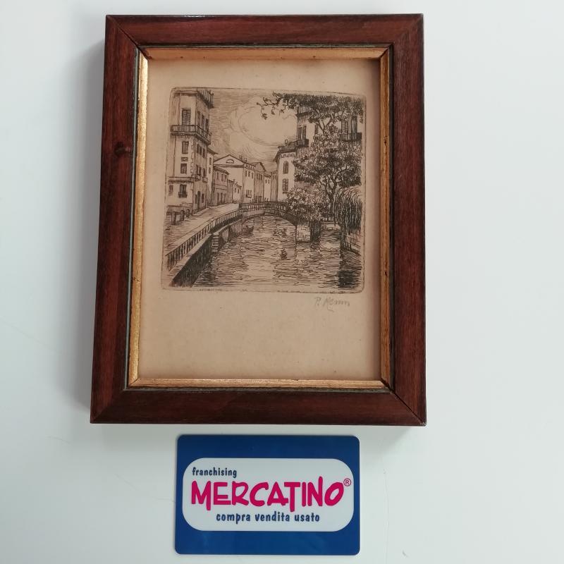 QUADRETTO VECCHIO STAMPA CANALE | Mercatino dell'Usato Torino san paolo 1