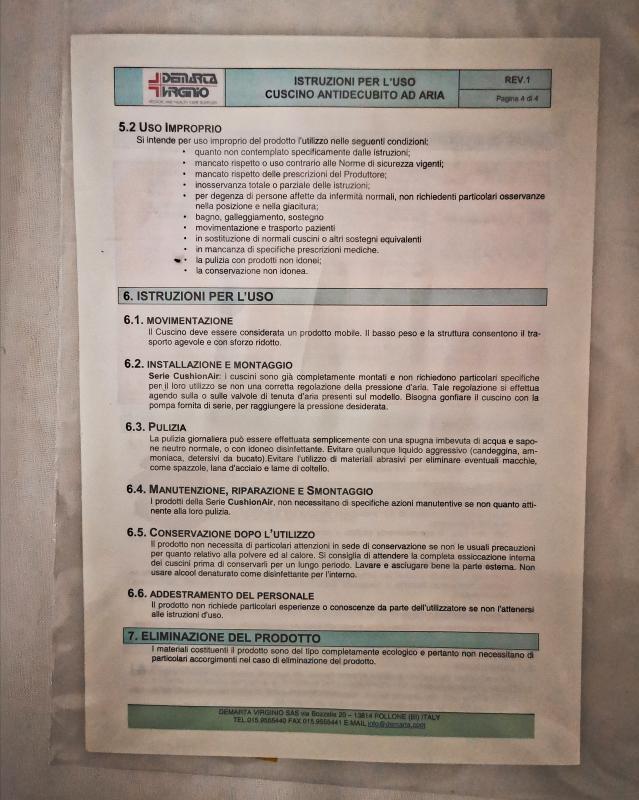 CUSCINO CARROZZINA ANTIDECUBITO CUSHIOAIR | Mercatino dell'Usato Torino tommaso grossi 5