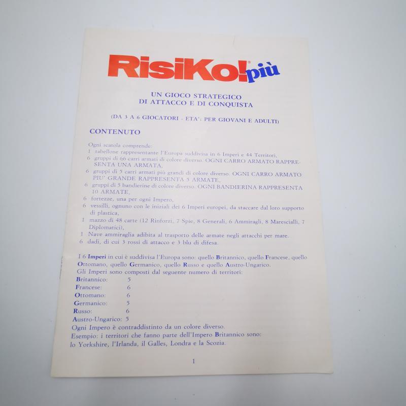 GIOCO RISIKO PIU'    Mercatino dell'Usato Torino tommaso grossi 3